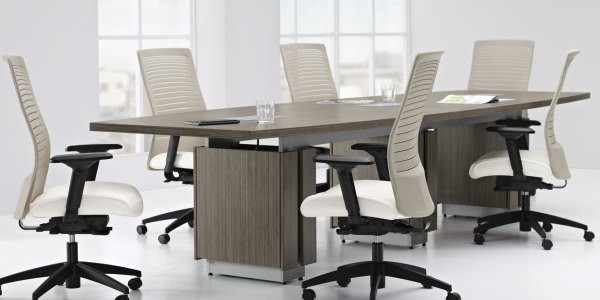 Corovan green conference room furniture